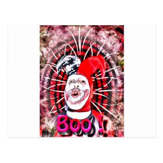 scary clown post cards