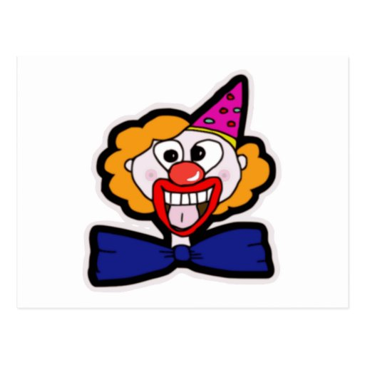 Scary Clown Post Card
