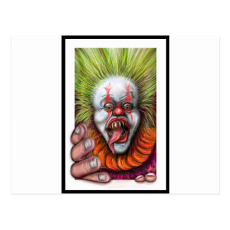 scary Clown Postcard