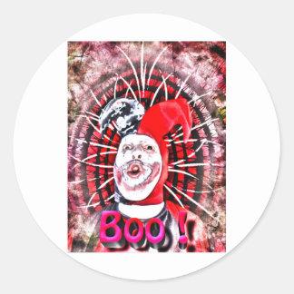 scary clown round sticker