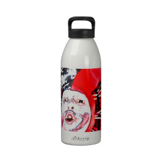 scary clown reusable water bottle