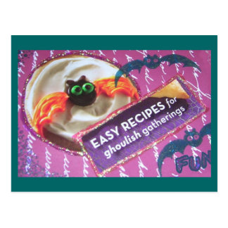 Scary Cookie of Halloween Present and Past Postcard