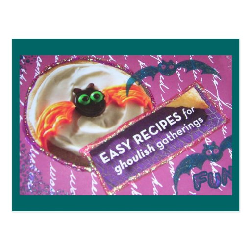Scary Cookie of Halloween Present and Past Postcards