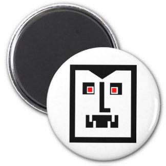 Scary  Cyborg Vampire Bot 2 Inch Round Magnet
