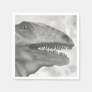 Scary Dinosaur Paper Napkin