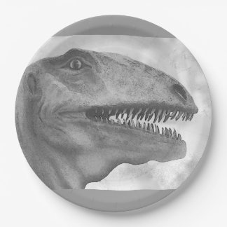 Scary Dinosaur Paper Plate