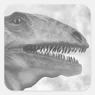 Scary Dinosaur Square Sticker
