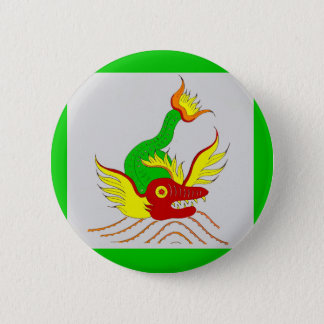 scary dragon 2 inch round button