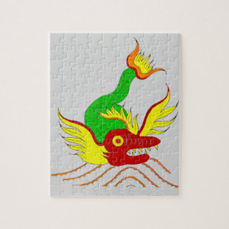 scary dragon jigsaw puzzle