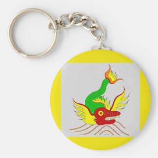 scary dragon keychain