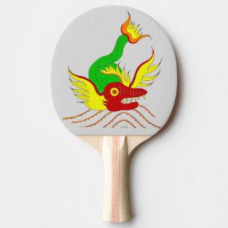 scary dragon ping pong paddle