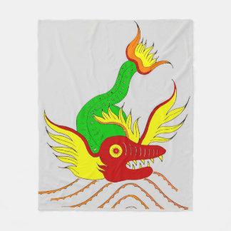 scary dragon print fleece blanket