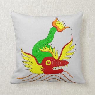 scary dragon print throw pillow