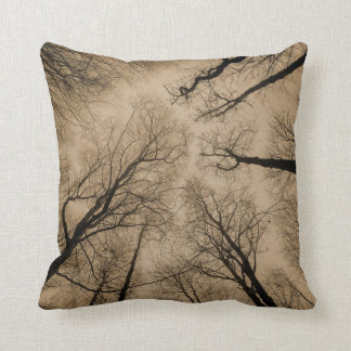 Scary Forest Throw Pillow