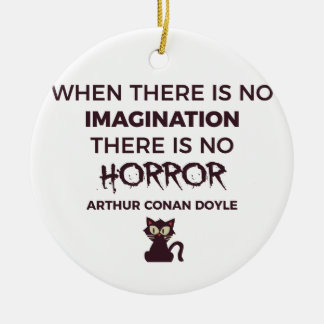 Scary Frightening Horror Halloween Design Ceramic Ornament