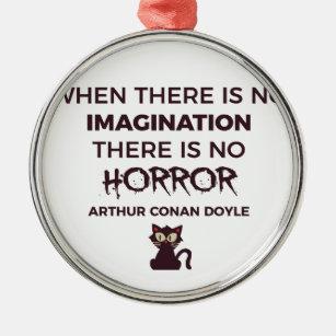 Scary Frightening Horror Halloween Design Metal Ornament