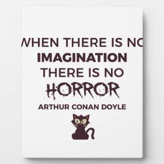 Scary Frightening Horror Halloween Design Plaque