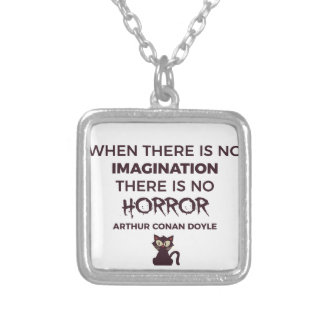 Scary Frightening Horror Halloween Design Silver Plated Necklace