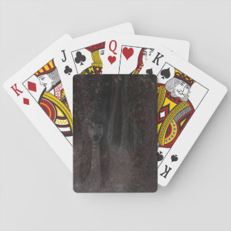 Scary Ghost Bride In Woods Halloween Party Games Playing Cards