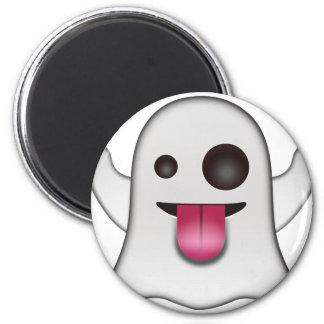 Scary Ghost Emoji Cool Fun Magnet