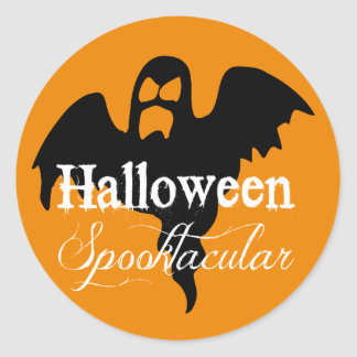 Scary Ghost Halloween Spooktacular Round Sticker