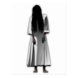 Scary Girl Postcard