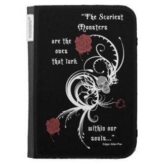 Scary Gothic Edgar Allen Poe Quote Kindle Case