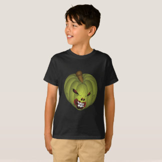 Scary Green Pumpkin Halloween Shirt