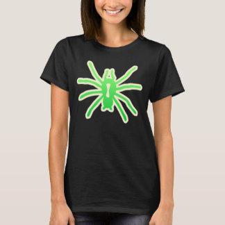 Scary Green Spider halloween ladies shirt