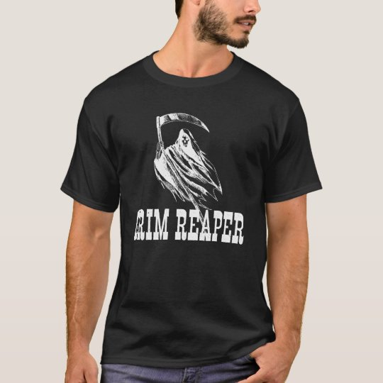 Scary Grim Reaper and Scythe Halloween T-Shirt