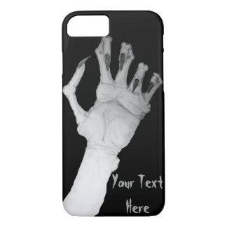 Scary gruesome monster hand with long nails art iPhone 7 case