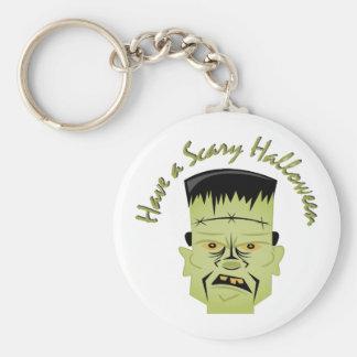 Scary Halloween Basic Round Button Keychain