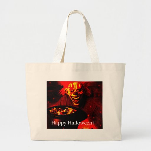 Scary Halloween Clown Design Bag