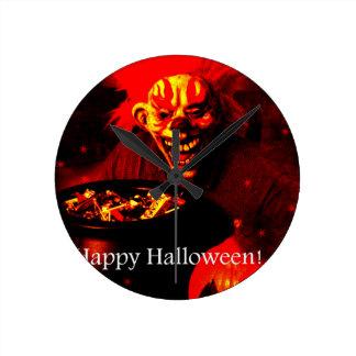 Scary Halloween Clown Design Clock