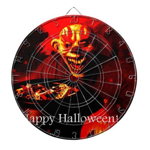 Scary Halloween Clown Design Dart Board