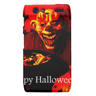 Scary Halloween Clown Design Droid RAZR Covers