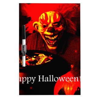Scary Halloween Clown Design Dry Erase Boards