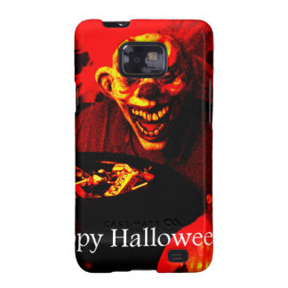 Scary Halloween Clown Design Galaxy S2 Covers