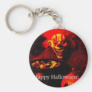Scary Halloween Clown Design Keychain