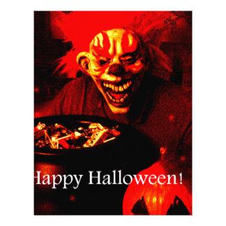 Scary Halloween Clown Design Letterhead Design