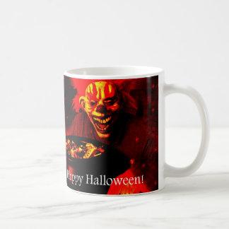 Scary Halloween Clown Design Mugs