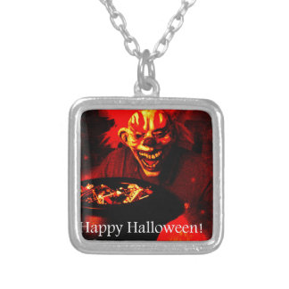 Scary Halloween Clown Design Personalized Necklace