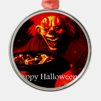 Scary Halloween Clown Design Christmas Tree Ornament