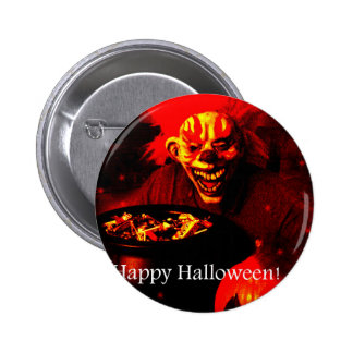Scary Halloween Clown Design Pin