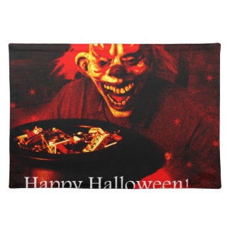 Scary Halloween Clown Design Placemat