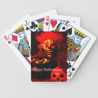 Scary Halloween Clown Design Bicycle Card Decks