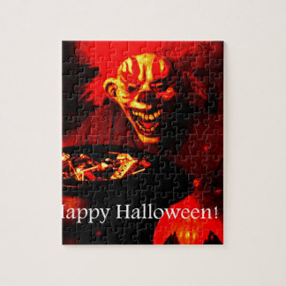 Scary Halloween Clown Design Jigsaw Puzzles