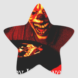 Scary Halloween Clown Design Sticker