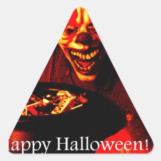 Scary Halloween Clown Design Stickers