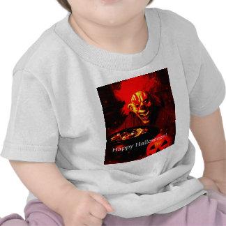 Scary Halloween Clown Design Tee Shirt